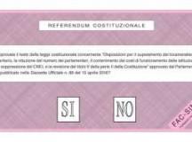 Referendum: domenica si vota dalle 7 alle 23