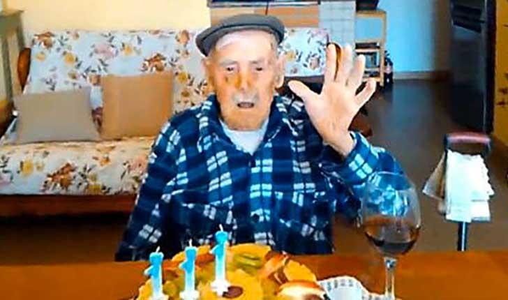 E' sardo l'uomo più vecchio d'Italia: è Valerio Piroddi e ha 111 anni